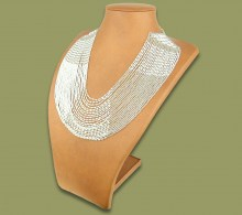 Beaded Necklace Sibaya White Silver