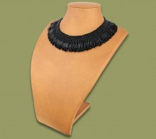African Beaded Thandi Necklace Black