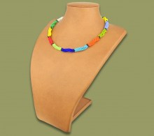 Beaded Necklace Twisted Zulu Colours