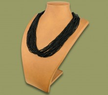 African Beaded Necklace Zama Black