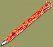 Beaded Pen Geometric Orange