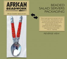 Beaded Salad Server Packaging
