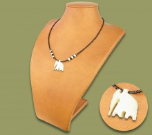 African Bone Necklace Elephant.1