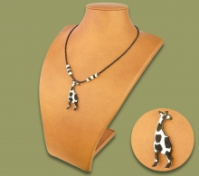 African Bone Necklace Giraffe