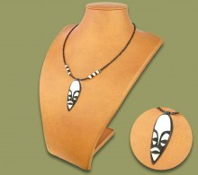African Bone Necklace Mask
