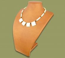 African Bone Necklace White