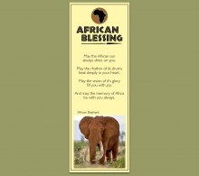 African Bookmark Elephant