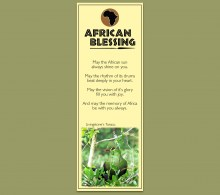 African Bookmark Livingstone's Turaco