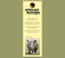 African Bookmark Rhino