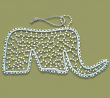 African Christmas Decorations Beaded Elephant