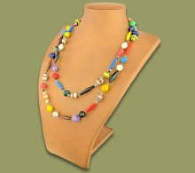 African Paper Beaded Necklace