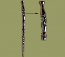 African Walking Stick Ebony Wood