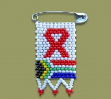 Beaded Aids SA Flag Pin