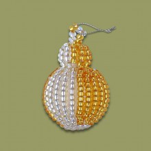 African Beaded Christmas Bobble Gold Silver