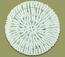 African Beaded Coaster Set X 6 White