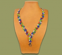 Beaded Lanyard Zulu Diamond Design
