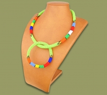 Zulu Necklace Bangle Set Light Green #1 Bead