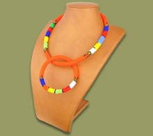 Zulu Necklace Bangle Set Orange #1 Bead