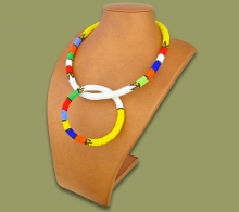 Zulu Necklace Bangle Set White #1 Bead
