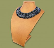 Beaded Thandi Necklace Charcoal Black