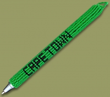 Beaded Pen Cape Town Green