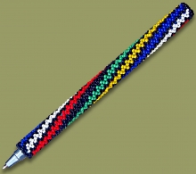 Beaded Pen SA Flag Spiral