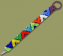 Beaded Pen Zulu V Design