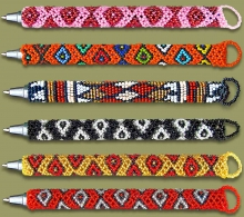 Beaded Pens Mixed Colors & Designs
