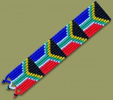 Beaded SA Flag Bookmark