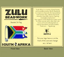 Beaded SA Flag Carded
