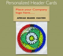 Personalized Beaded Coaster Header Card. 1