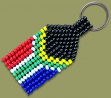SA Flag Beaded Keyring.1