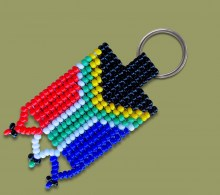 SA Flag Beaded Keyring.2