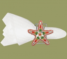 Beaded Serviette Ring Stand Christmas Star