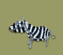 African Bead and Wirework Zebra