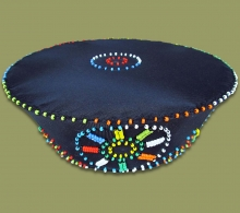 Beaded Zulu Hat Black