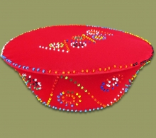 Beaded Zulu Hat Red