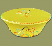 Beaded Zulu Hat Yellow