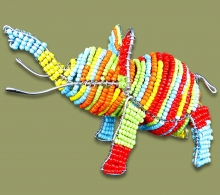 Colorful African Beaded Elephant