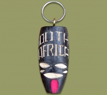 Key Ring Wood South Africa Mask