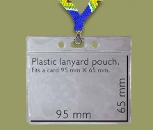 Lanyard ID Badge Holder Plastic