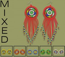 MIXED Large Circle Tassel Earrings