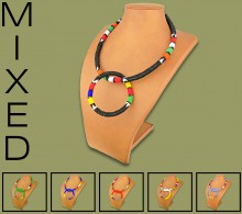 Mixed Zulu Necklace Bangle Set #1 Bead