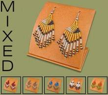 Mixed Short Tassel Earrings