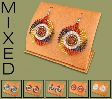 Mixed Small Circle Earrings