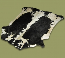 Nguni Hide.13 Black And White Saddle