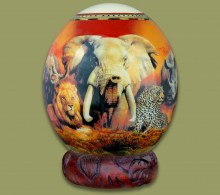 Ostrich Egg Decoupage Big Five.4