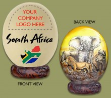 Ostrich Egg South Africa Company Logo Big Five