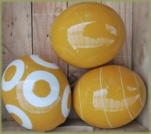 Painted Ostrich Eggs Mustard / Yellow