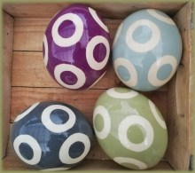 Painted Ostrich Eggs Mixed